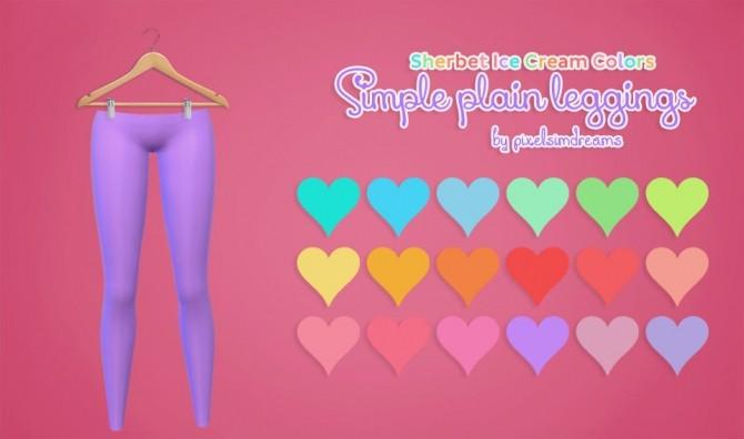 Sims 4 Simple Plain Leggings at Pixelsimdreams