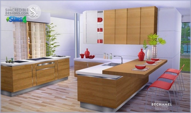 Bechamel kitchen at SIMcredible! Designs 4 image 175 670x397 Sims 4 Updates