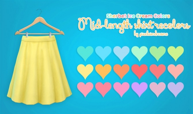 Mid Length Skirt Recolors at Pixelsimdreams image 1753 670x396 Sims 4 Updates