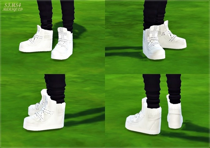 Male cross stud high top sneakers at Marigold image 1768 670x473 Sims 4 Updates