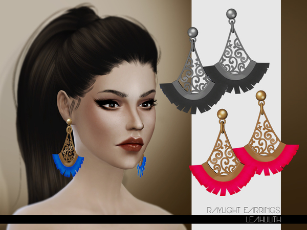 Raylight Earrings by Leah Lilith at TSR image 1775 Sims 4 Updates