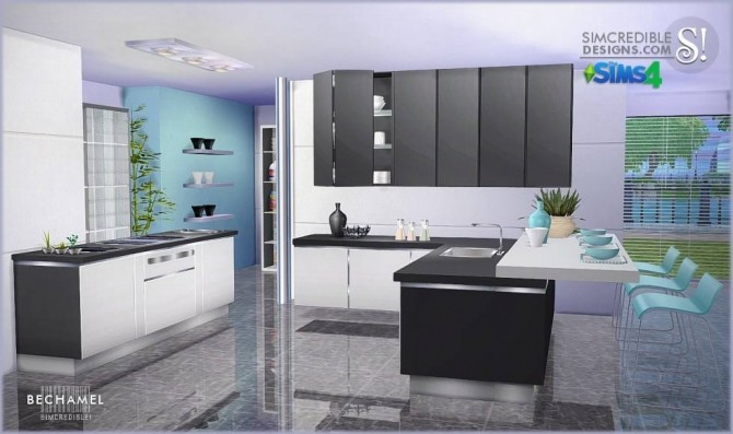 Bechamel Kitchen At SIMcredible Designs 4 Image 178 670x397 Sims