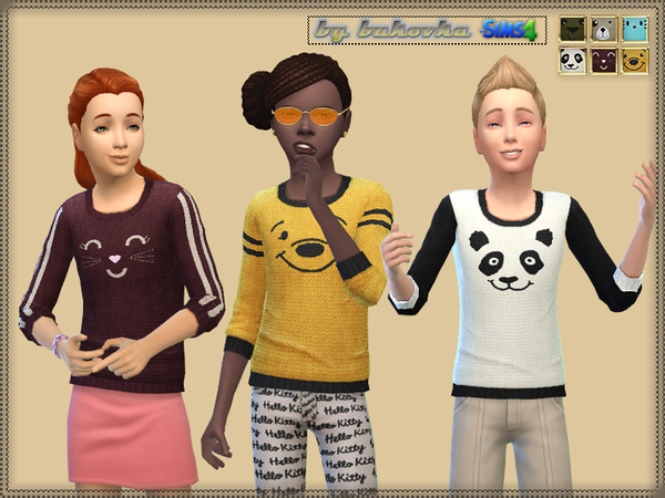 Sweater Faces Animals by bukovka at TSR image 1780 Sims 4 Updates