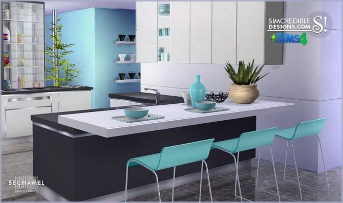Bechamel Kitchen At Simcredible Designs 4 187 Sims 4 Updates