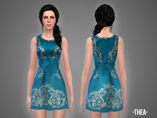 Thea dress by April at TSR image 18 Sims 4 Updates