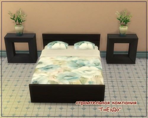 Sims 4 Flower matress at Sims by Mulena