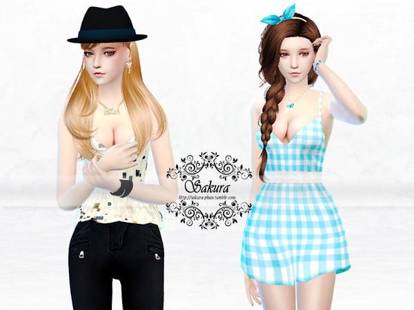 Sims 4 Charlotte Set by SakuraPhan at TSR