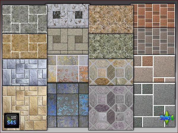 4 stone flooring sets by Mabra at Arte Della Vita image 18114 Sims 4 Updates