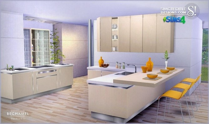 Bechamel kitchen at SIMcredible! Designs 4 image 182 670x397 Sims 4 Updates