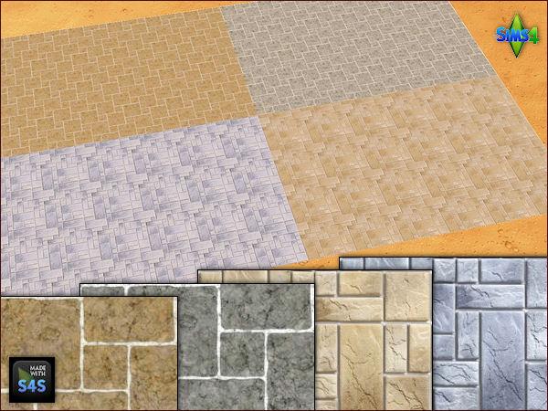 4 stone flooring sets by Mabra at Arte Della Vita image 18212 Sims 4 Updates