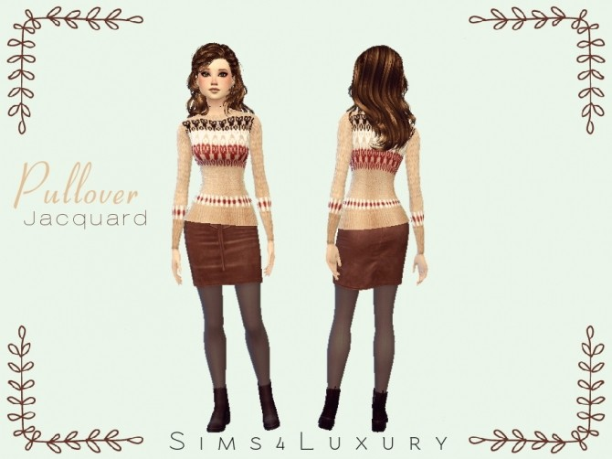 Sims 4 Pullover Jacquard at Sims4 Luxury