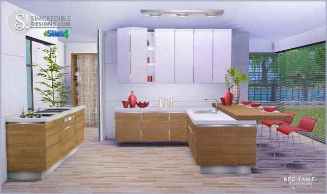 Bechamel kitchen at SIMcredible! Designs 4 image 183 670x397 Sims 4 Updates