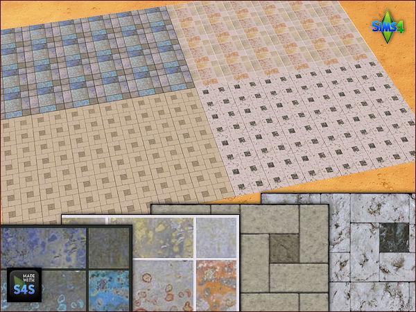 4 stone flooring sets by Mabra at Arte Della Vita image 18311 Sims 4 Updates