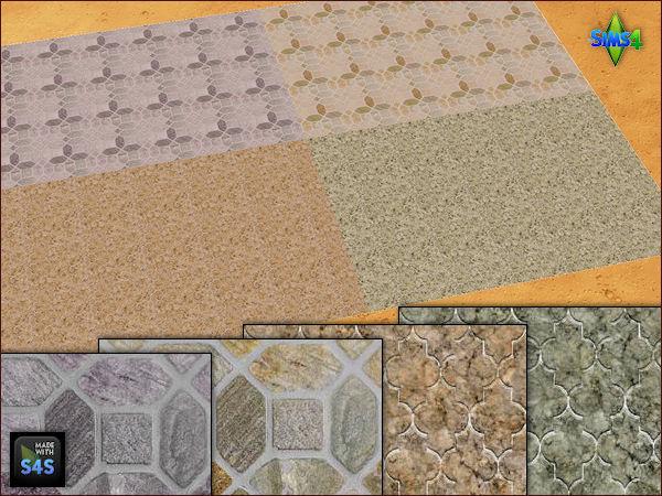 4 stone flooring sets by Mabra at Arte Della Vita image 18410 Sims 4 Updates
