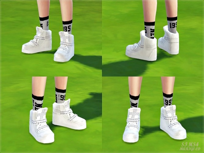Marigold Sneakers Female Cross Top At Updates » 4 High Sims Stud QWrBdexoC