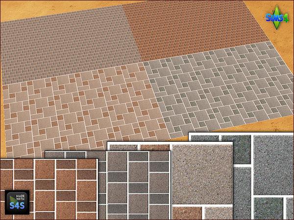 4 stone flooring sets by Mabra at Arte Della Vita image 1859 Sims 4 Updates