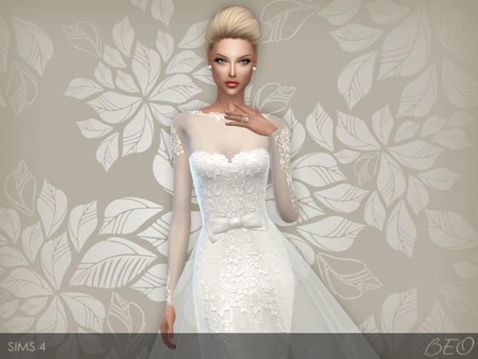 Sims 4 Wedding dress 28 at BEO Creations