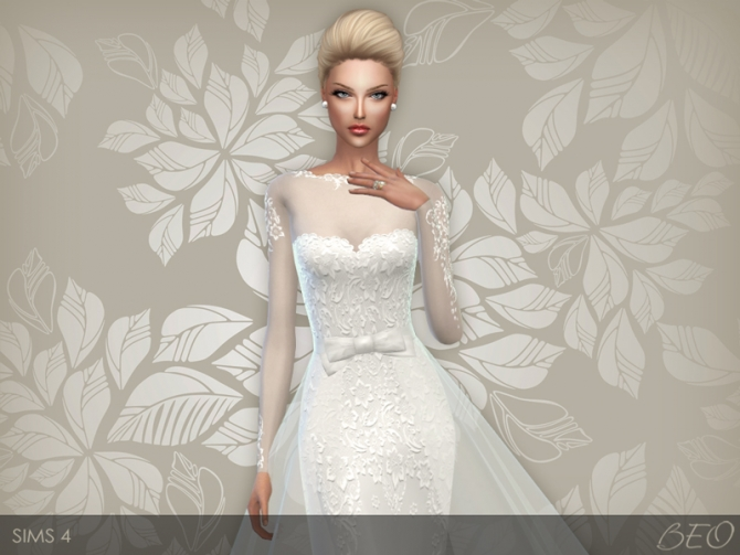 Wedding Dress 28 At Beo Creations 187 Sims 4 Updates