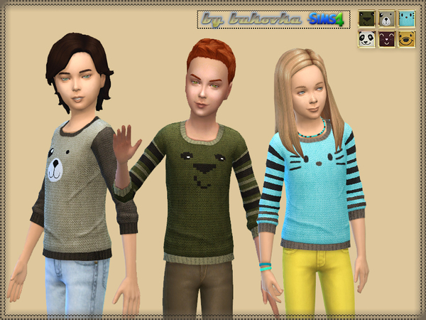 Sweater Faces Animals by bukovka at TSR image 1880 Sims 4 Updates