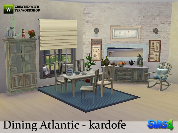 Sims 4 Atlantic Dining by kardofe at TSR