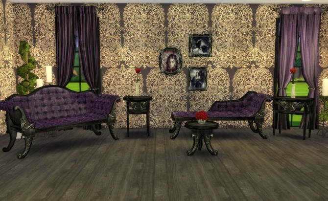 Sims 4 ADELE Victorian Gothic Set Recolors by Ilona at My little The Sims 3 World