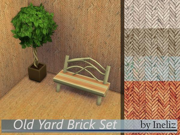 Sims 4 Old Yard Brick Set by Ineliz at TSR