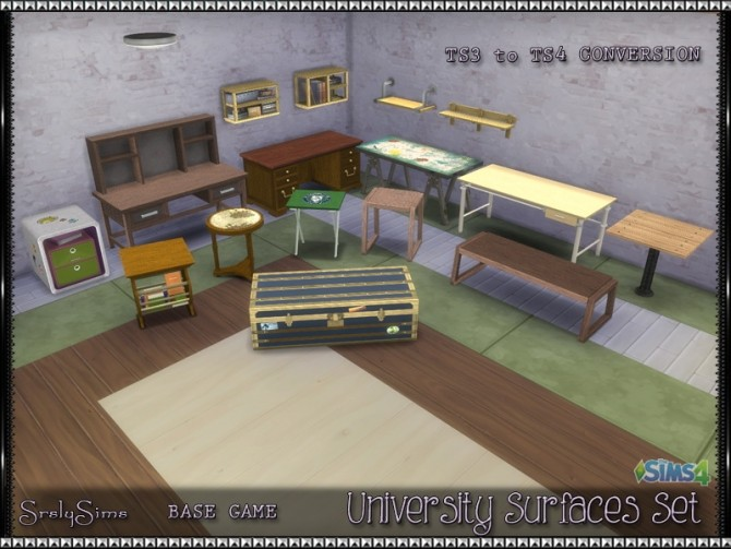 University Surfaces Set at SrslySims image 1917 670x503 Sims 4 Updates