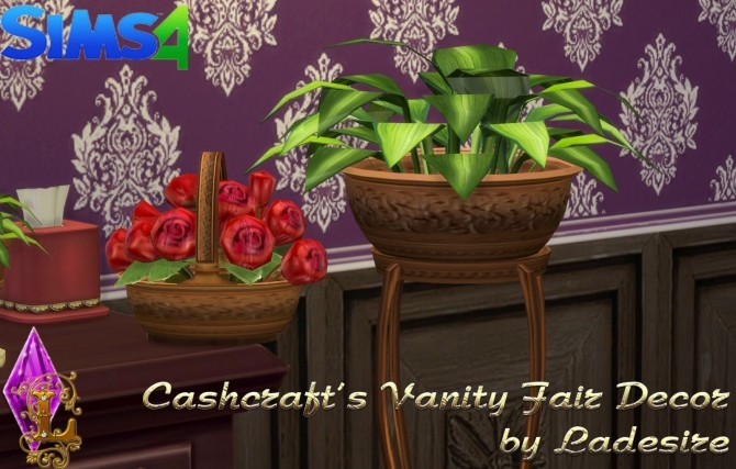Sims 4 Cashcrafts Vanity Fair Decor at Ladesire