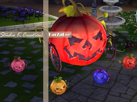 Sims 4 Big Pumpkin Deco + mini light at Studio K Creation