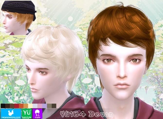 Sims 4 YU184 Devon hair at Newsea Sims 4