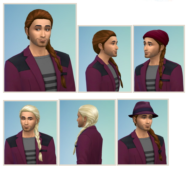 Sims 4 SideBraid for males at Birksches Sims Blog
