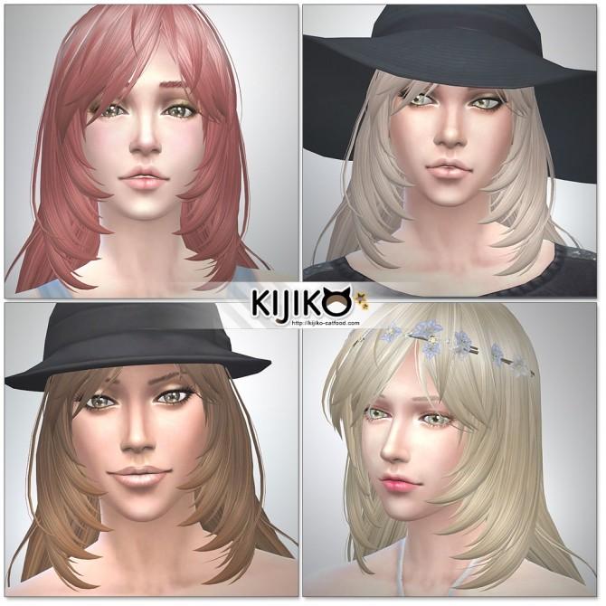 Long Layered Hair for females at Kijiko image 2019 670x670 Sims 4 Updates