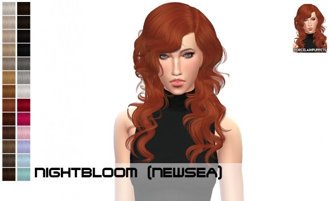 Sims 4 Newsea Night Bloom + Gold Leaf recolors at Porcelain Warehouse