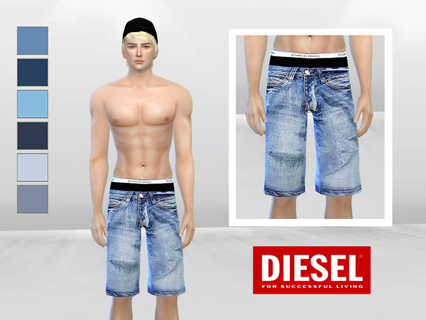 Sims 4 Down Under Low Waist Denim Shorts by McLayneSims at TSR