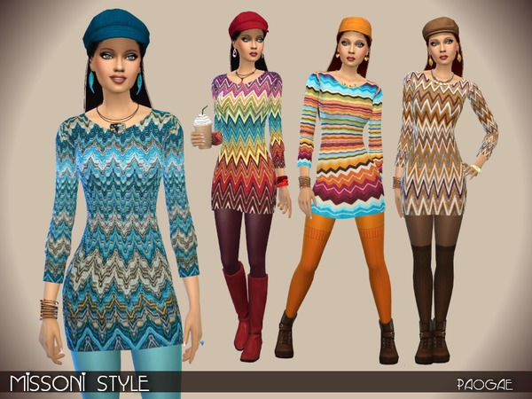Four sweaters by Paogae at TSR image 2047 Sims 4 Updates