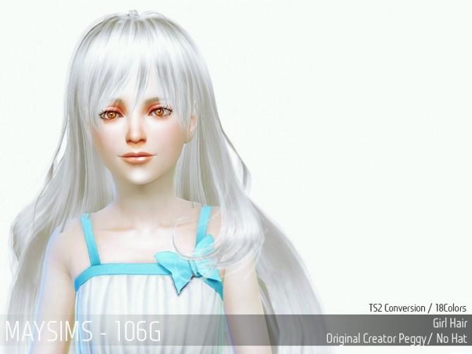 Sims 4 Hair 106C (Peggy) at May Sims