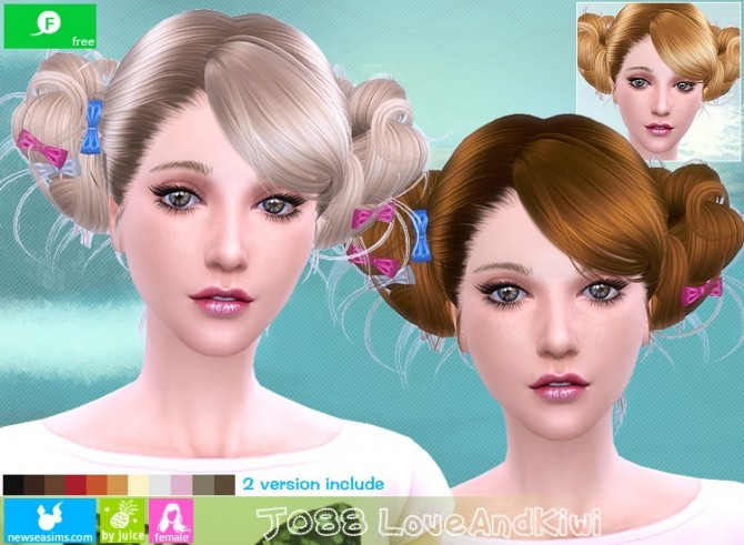 J088 Love and kiwi hair (FREE plus) at Newsea Sims 4 image 2151 670x491 Sims 4 Updates