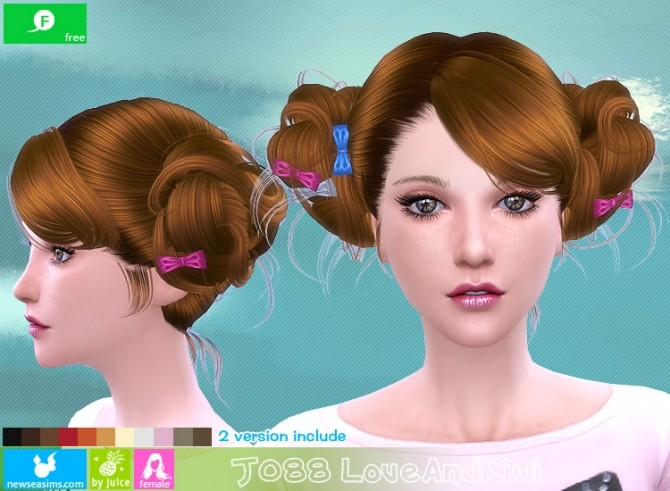 J088 Love and kiwi hair (FREE plus) at Newsea Sims 4 image 2161 670x491 Sims 4 Updates