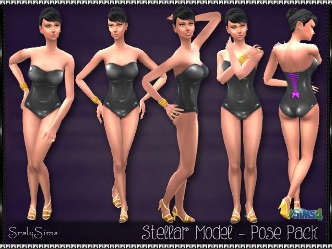 Sims 4 Stellar Model Pose Pack at SrslySims
