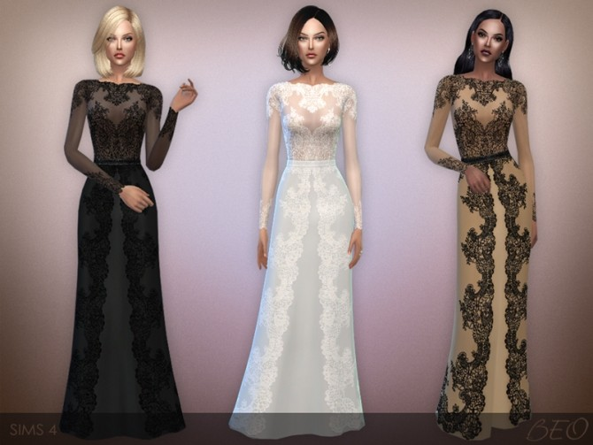 Lace Long Dress At Beo Creations 187 Sims 4 Updates