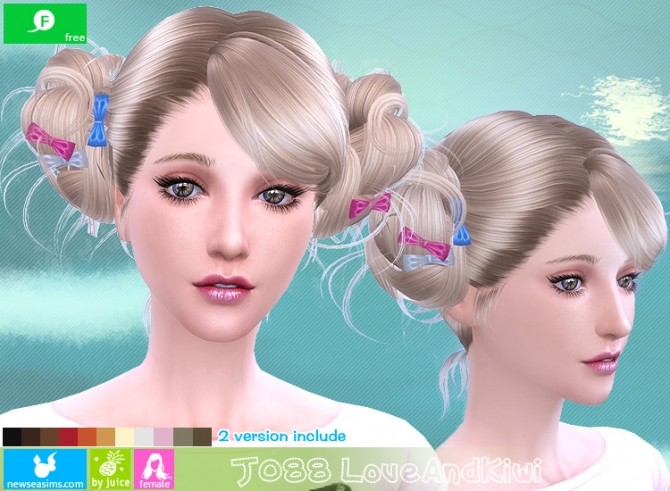 J088 Love and kiwi hair (FREE plus) at Newsea Sims 4 image 2171 670x491 Sims 4 Updates
