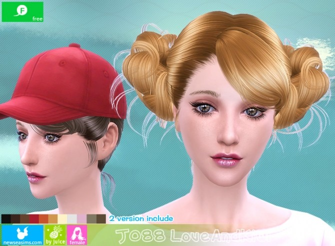 J088 Love and kiwi hair (FREE plus) at Newsea Sims 4 image 2181 670x491 Sims 4 Updates