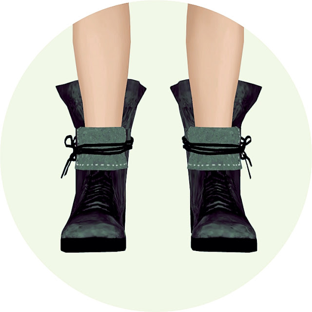 Sims 4 Male up collar lace up ankle boots at Marigold