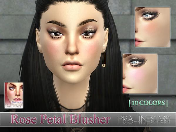 Sims 4 Rose Petal Blusher N09 by Pralinesims at TSR