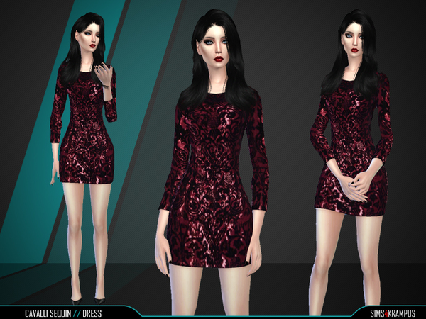 Sims 4 Sequin Dress by SIms4Krampus at TSR