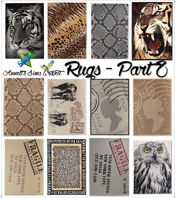 Sims 4 Rugs Part 2 at Annett's Sims 4 Welt