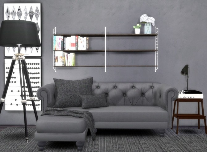 Lisen's String shelf + Blackcatphoenix's Corner sofa at ...