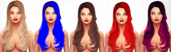Sims 4 Skysims Hair 084 Retexture at S4 Models