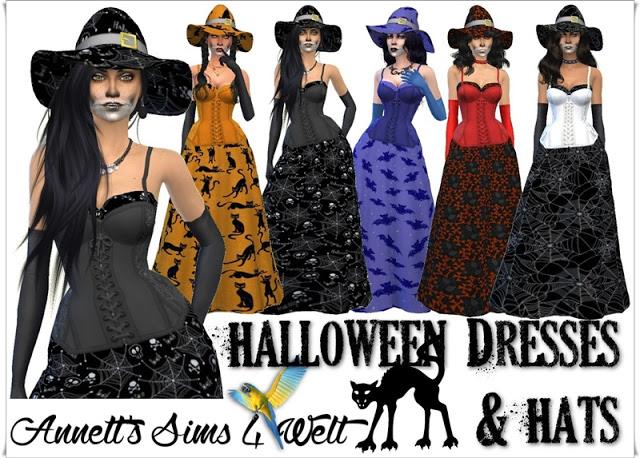 Halloween Dresses & Hats Part1 at Annett's Sims 4 Welt image 2324 Sims 4 Updates