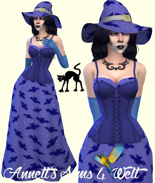 Halloween Dresses & Hats Part1 at Annett's Sims 4 Welt image 2332 Sims 4 Updates